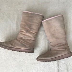 Light Pink Snow Fur Boots By Simple Size 8